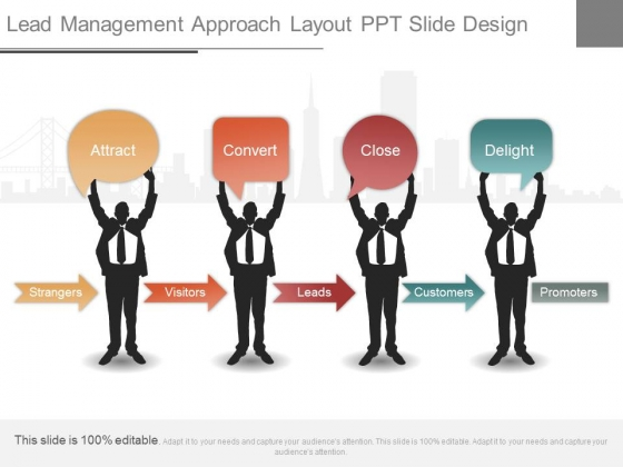 Lead Management Approach Layout Ppt Slide Design