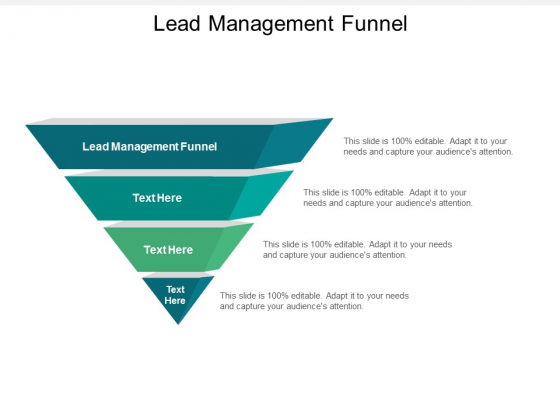 Lead Management Funnel Ppt PowerPoint Presentation Styles Design Inspiration Cpb