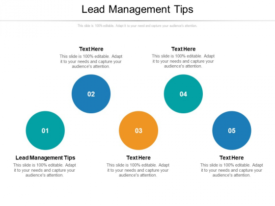 Lead Management Tips Ppt PowerPoint Presentation Inspiration Graphics Template Cpb Pdf