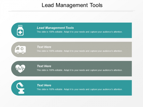 Lead Management Tools Ppt PowerPoint Presentation Portfolio Pictures Cpb