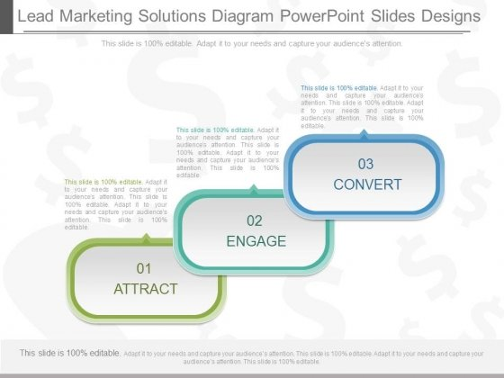 Lead Marketing Solutions Diagram Powerpoint Slides Designs