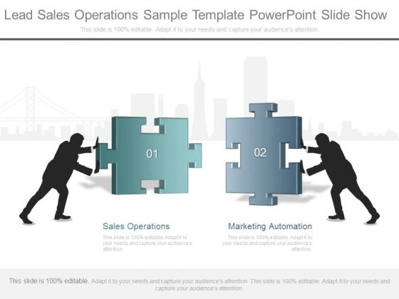 Lead Sales Operations Sample Template Powerpoint Slide Show