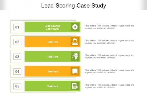 Lead Scoring Case Study Ppt PowerPoint Presentation Pictures Outline Cpb Pdf