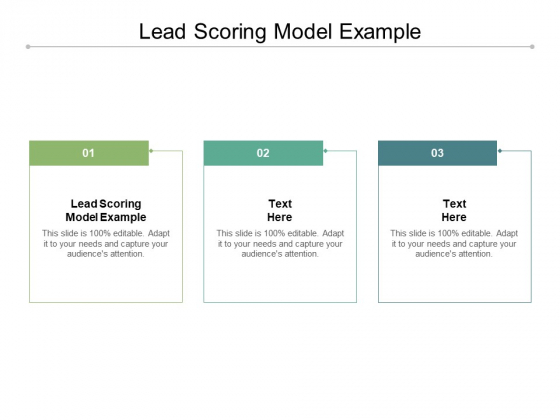 Lead Scoring Model Example Ppt PowerPoint Presentation Show Cpb