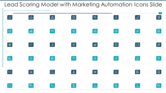 Lead Scoring Model With Marketing Automation Icons Slide Infographics PDF