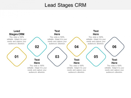 Lead Stages CRM Ppt PowerPoint Presentation Outline Brochure Cpb Pdf