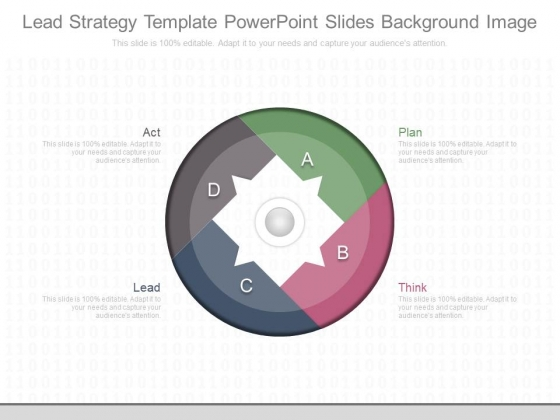 Lead Strategy Template Powerpoint Slides Background Image