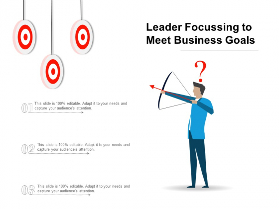 Leader Focussing To Meet Business Goals Ppt PowerPoint Presentation Professional Sample