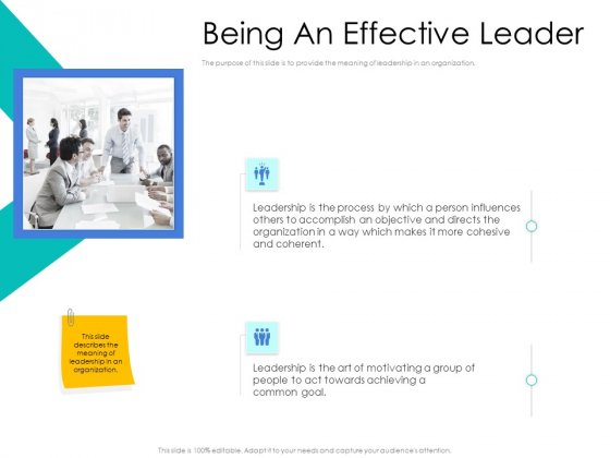 Leader Vs Administrators Being An Effective Leader Ppt Summary Layouts PDF
