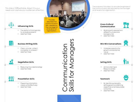 Leader Vs Administrators Communication Skills For Managers Graphics PDF