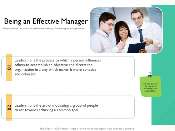 Leaders Vs Managers Being An Effective Manager Act Ppt Styles Themes PDF