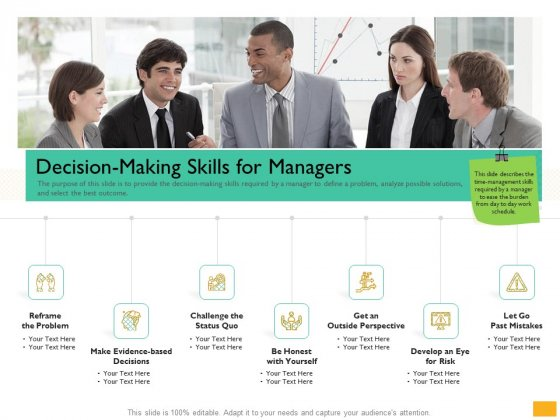 Leaders Vs Managers Decision Making Skills For Managers Ppt Portfolio Smartart PDF