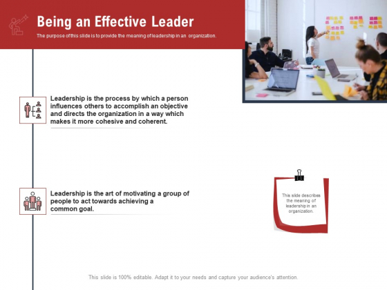 Leadership And Management Being An Effective Leader Pictures PDF