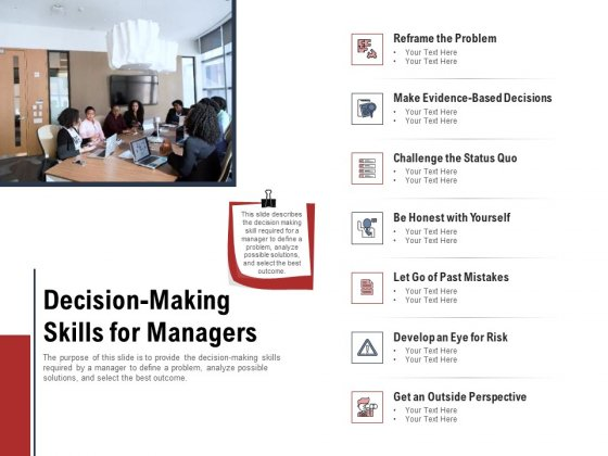Leadership And Management Decision Making Skills For Managers Structure PDF