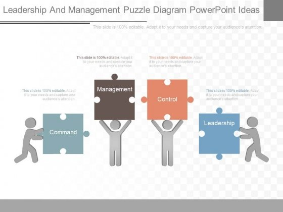 Leadership And Management Puzzle Diagram Powerpoint Ideas