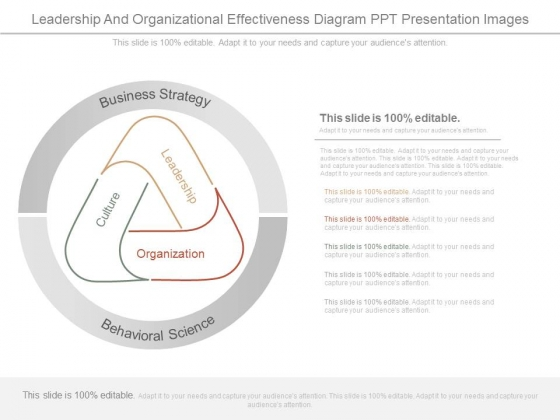 Leadership And Organizational Effectiveness Diagram Ppt Presentation Images