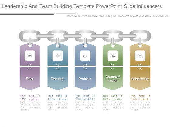 Leadership And Team Building Template Powerpoint Slide Influencers
