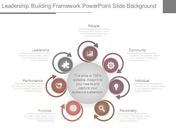 Leadership Building Framework Powerpoint Slide Background