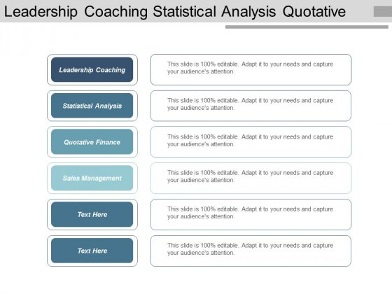Leadership Coaching Statistical Analysis Quotative Finance Sales Management Ppt PowerPoint Presentation Styles Format Ideas