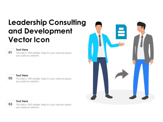 Leadership Consulting And Development Vector Icon Ppt PowerPoint Presentation Icon Model PDF