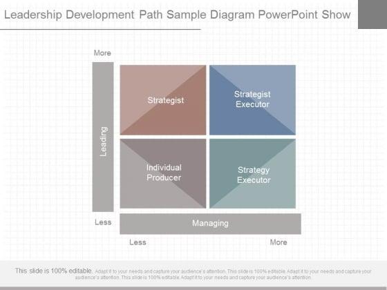 Leadership Development Path Sample Diagram Powerpoint Show