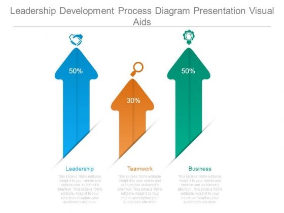 Leadership Development Process Diagram Presentation Visual Aids