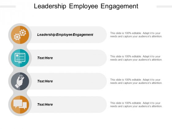 Leadership Employee Engagement Ppt PowerPoint Presentation Pictures Model