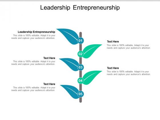 Leadership Entrepreneurship Ppt PowerPoint Presentation File Graphics Template Cpb