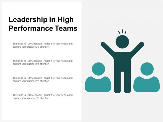 Leadership In High Performance Teams Ppt PowerPoint Presentation Background Images