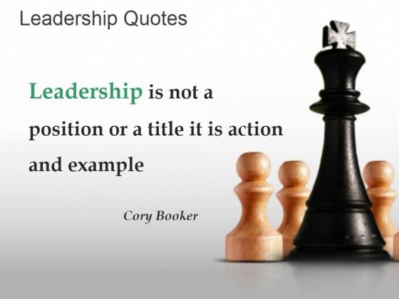 Leadership Is Not A Position Or A Title It Is Action And Example Ppt PowerPoint Presentation Background Images
