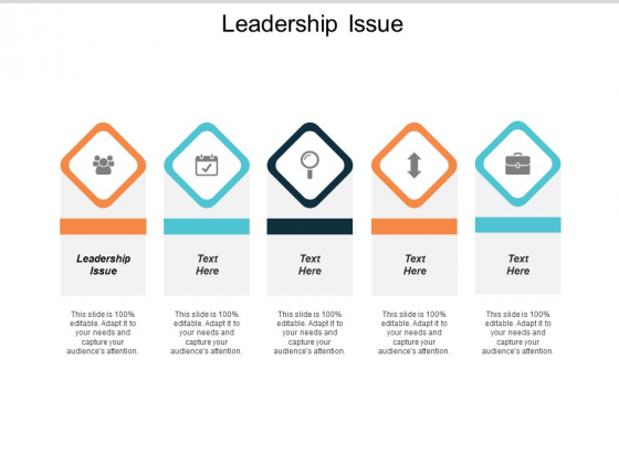 Leadership Issue Ppt Powerpoint Presentation Layouts Vector Cpb