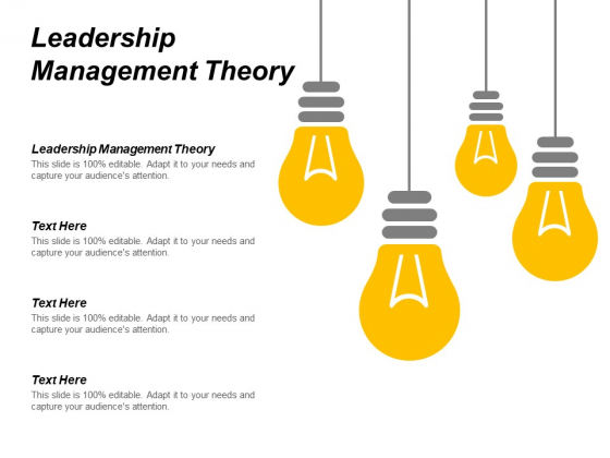 Leadership Management Theory Ppt PowerPoint Presentation Outline Layouts Cpb