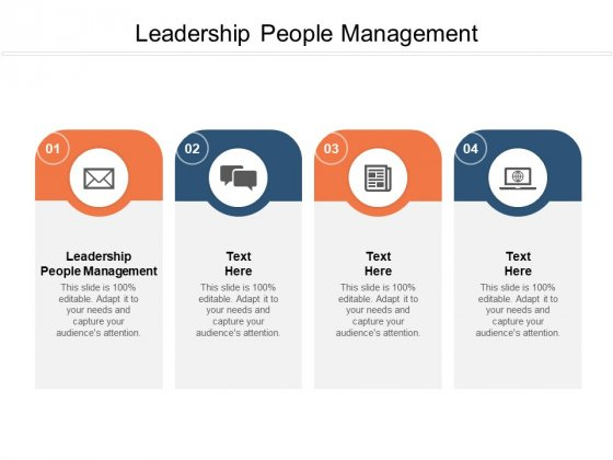 Leadership People Management Ppt PowerPoint Presentation Visual Aids Inspiration Cpb