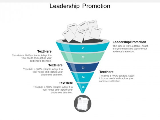 Leadership Promotion Ppt PowerPoint Presentation Layouts Format Ideas Cpb