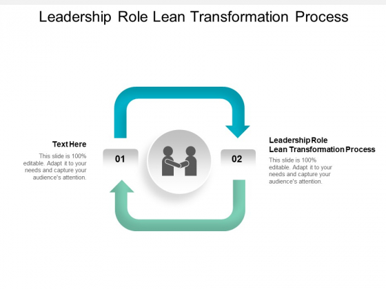 Leadership Role Lean Transformation Process Ppt PowerPoint Presentation Infographics Slide Cpb