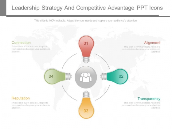 Leadership Strategy And Competitive Advantage Ppt Icons
