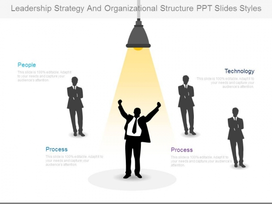 Leadership Strategy And Organizational Structure Ppt Slides Styles