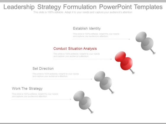 Leadership Strategy Formulation Powerpoint Templates