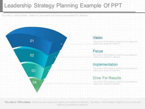 Leadership Strategy Planning Example Of Ppt