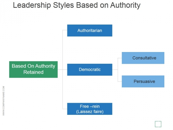 leadership styles based on authority template 2 ppt powerpoint