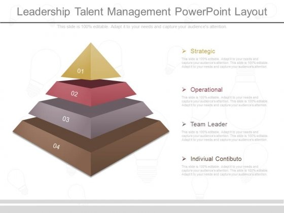 Leadership Talent Management Powerpoint Layout