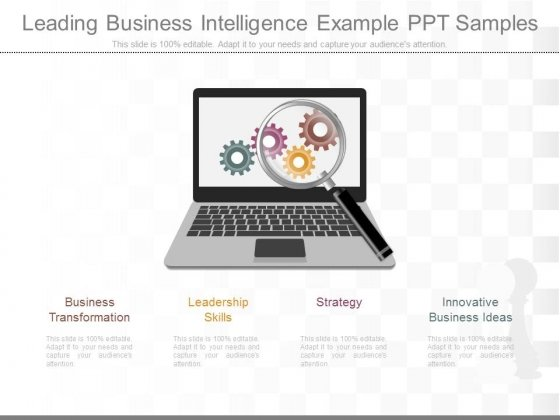 Leading Business Intelligence Example Ppt Samples
