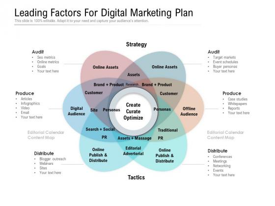 Leading Factors For Digital Marketing Plan Ppt PowerPoint Presentation File Styles PDF