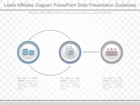 Leads Affiliates Diagram Powerpoint Slide Presentation Guidelines