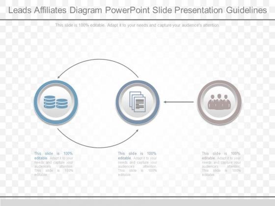 Leads Affiliates Diagram Powerpoint Slide Presentation Guidelines