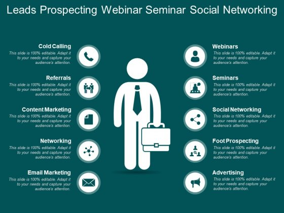 Leads Prospecting Webinar Seminar Social Networking Ppt PowerPoint Presentation Infographic Template Graphics Download
