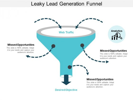 Leaky Lead Generation Funnel Ppt PowerPoint Presentation Styles Slides