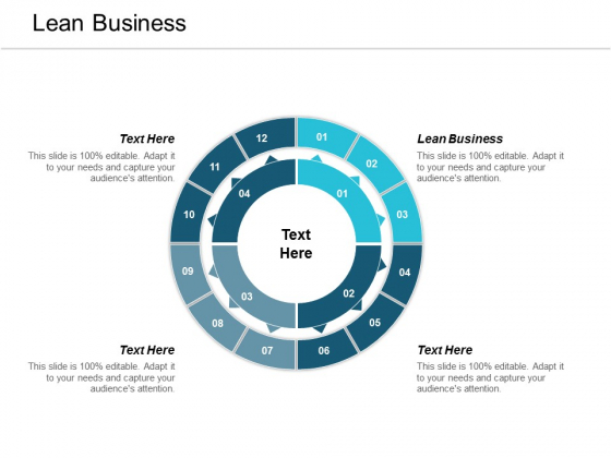 Lean Business Ppt Powerpoint Presentation Summary Show Cpb