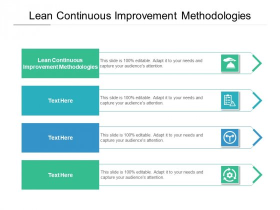 Lean Continuous Improvement Methodologies Ppt PowerPoint Presentation Icon Slides Cpb Pdf