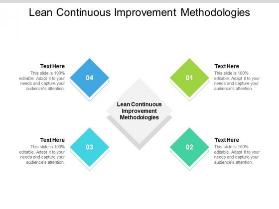 Lean Continuous Improvement Methodologies Ppt PowerPoint Presentation Ideas Example Cpb Pdf